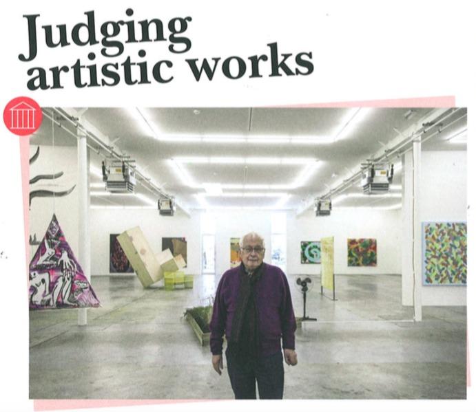 Judging artistic work - Messagier / Viallat - Wandhaff